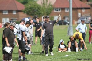 Coach Steve on the sidelines at a Youth Contact team game